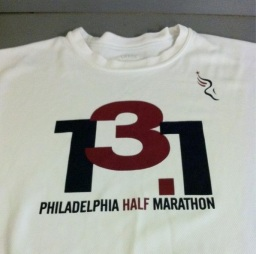 "I almost never wear this shirt because it screams ""I RAN A HALF MARATHON!"""