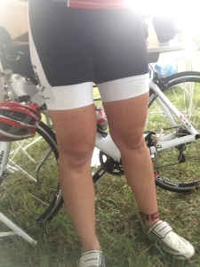 Yes, these legs pedaled those wheels for 100 miles.  ONE HUNDRED MILES.